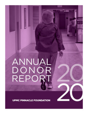 2020 UPMC Pinnacle Foundation Annual Donor Report Cover